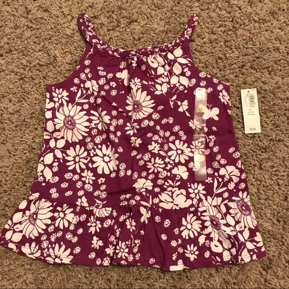 Old Navy Other - NWT girls Old Navy size 5T purple & white tank top